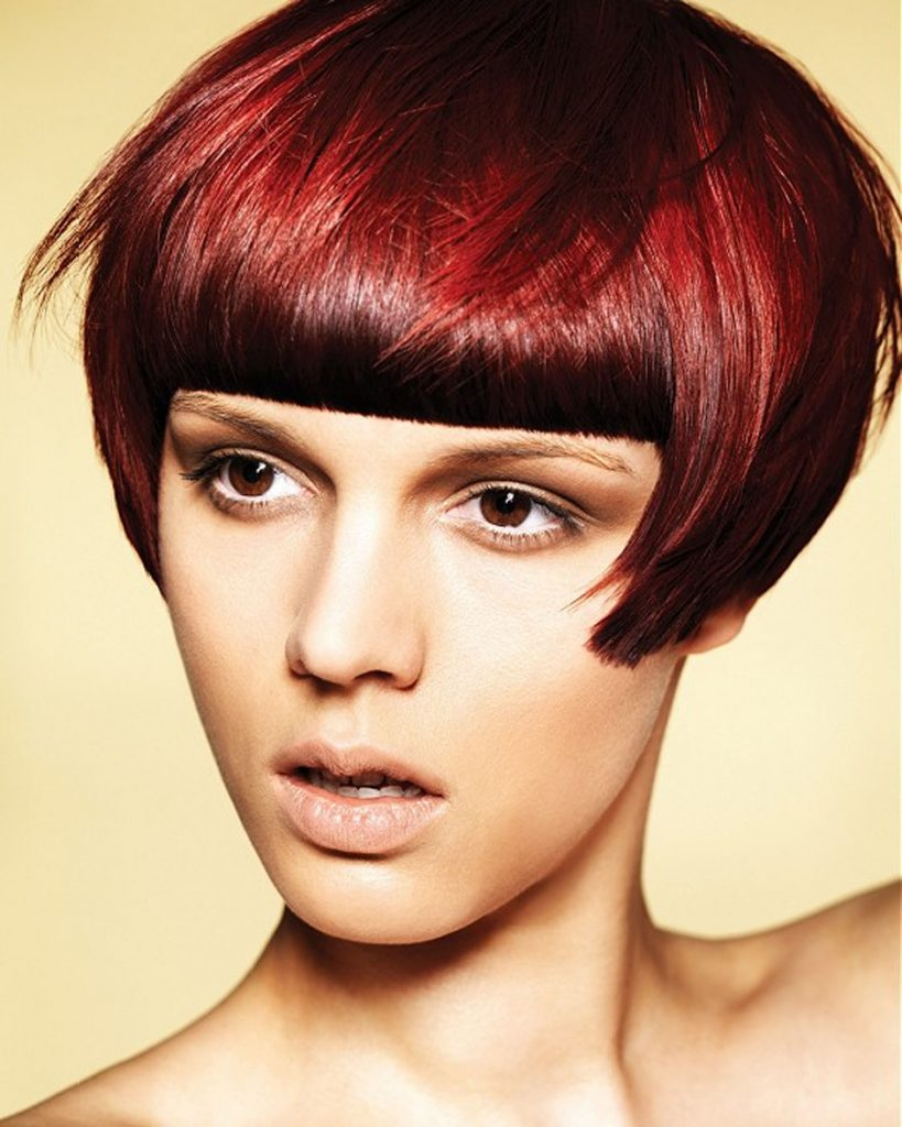 Red Color Ideas of Very Short Hairstyles as 2012 Hair Trend