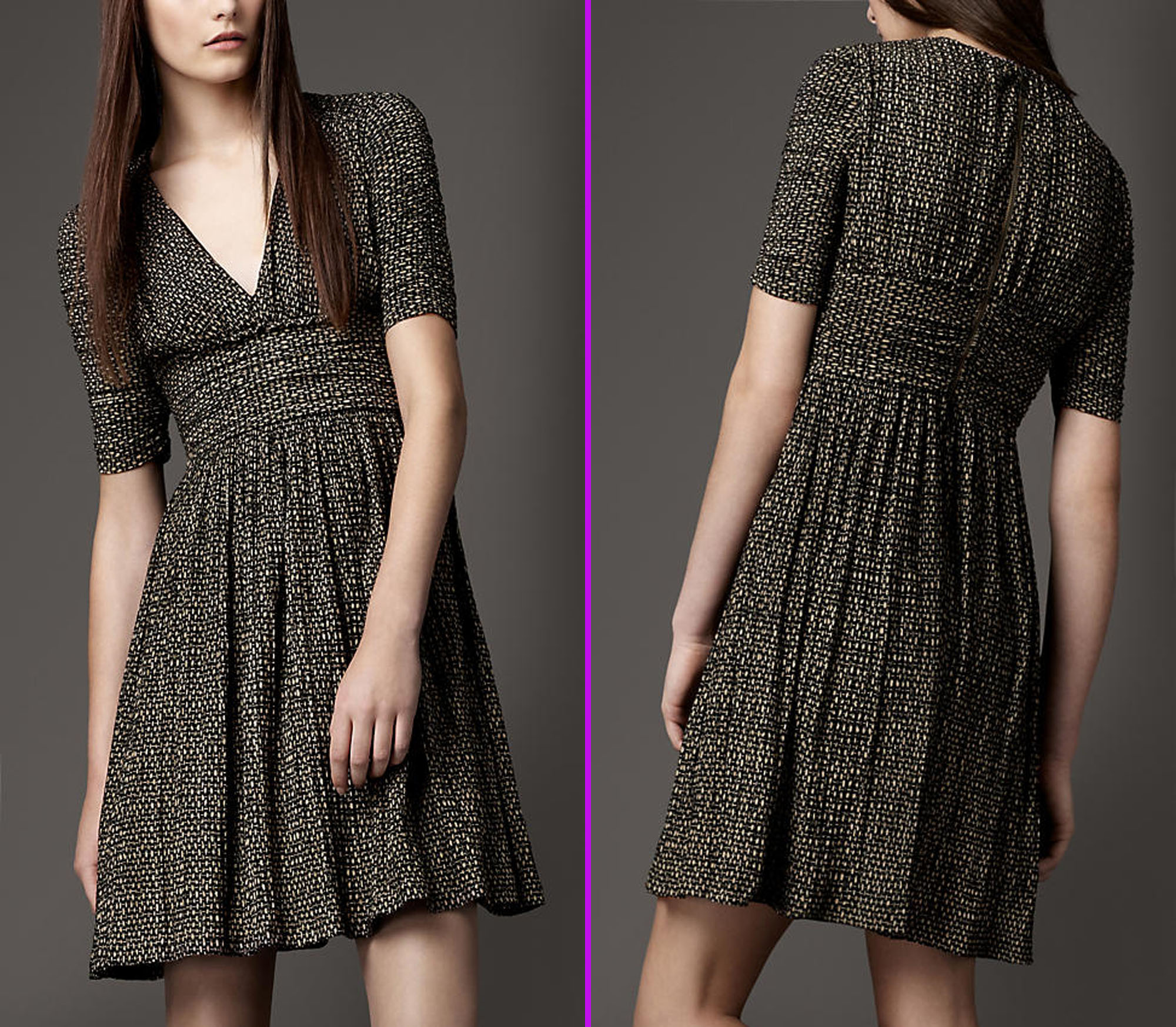luxury dress for women as fashionable clothes by burberry fashion